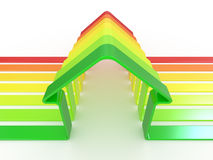House and scale Energy efficiency concept Royalty Free Stock Photos