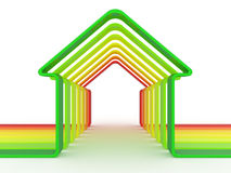 House and scale Energy efficiency concept Stock Photos