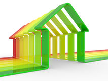 House and scale Energy efficiency concept Stock Images