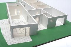 House scale-model. Scale-model from a house with isolated background Stock Photography