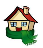 House with scarf stock illustration