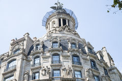House with sculptures. In the centre of Barcelona Royalty Free Stock Photo