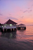 House on sea. At Chonburi Thailand Stock Images