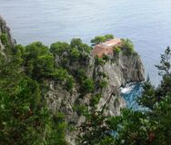 House on sea cliff