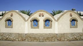 House on sea front in dahab. Red sea, sinai, egypt Royalty Free Stock Photo