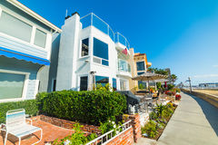 House by the sea in Newport Beach Royalty Free Stock Image