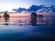 House in the sea Royalty Free Stock Photography