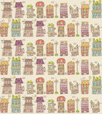 House seamless pattern Stock Image