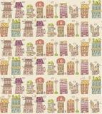 House seamless pattern Stock Image