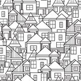 House seamless pattern Stock Photos