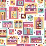 House seamless wallpaper design Stock Photos