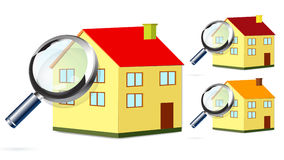 House Search Royalty Free Stock Photography