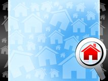 House searchig background. Blue concept illustration Royalty Free Stock Photos
