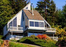 House at seaside. A luxury american wooden house at seaside Stock Photography