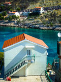 House on the seaside. In Croatia, on the coast of a small bay stock photography