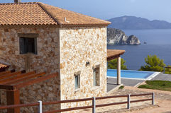 House with seaview Stock Photography