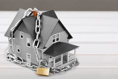 House security. Agency alarm apartment architect architecture build Stock Photo