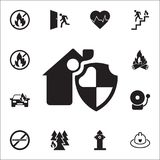 House security icon. Detailed set of fire guard icons. Premium quality graphic design sign. One of the collection icons for websit. Es, web design, mobile app on Stock Image