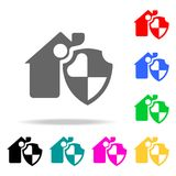 House security icon. Element firefighters multi colored icons for mobile concept and web apps. Icon for website design and develop. Ment, app development Royalty Free Stock Photography