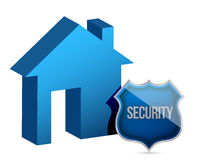 House and security shield illustration design Royalty Free Stock Images
