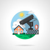 House security system color detailed icon Royalty Free Stock Photography