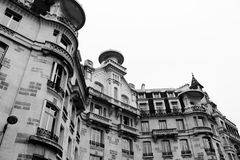 House on the Seine in Paris. Black and white photo Stock Photography