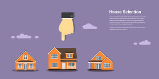 House selection concept Stock Image