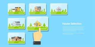 House selection concept Stock Photo