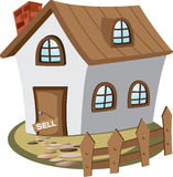 House for sell. Illustration of house for sell. Concept of city lifestyle stock illustration