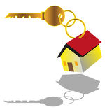 House For Sell. Vector illustration of a key with house tag Stock Images