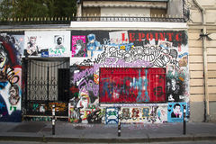House of Serge Gainsbourg in Paris Royalty Free Stock Photos
