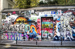 House of Serge Gainsbourg in Paris stock photos