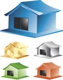 House Series Colors Royalty Free Stock Photo