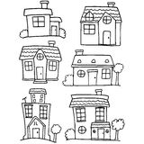 House set hand draw various Stock Photos