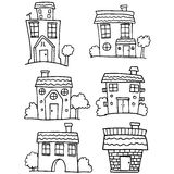 House set with hand draw Royalty Free Stock Photo