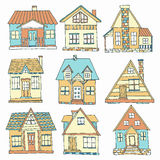House set. Hand drawn collection Stock Image