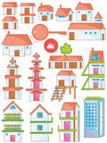 House Set_eps Stock Photography