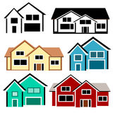 House Set. Set of residential houses on a white background Vector Illustration
