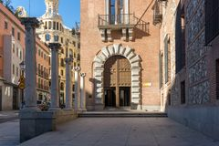 House of Seven Chimneys in City of Madrid, Spain Stock Photos