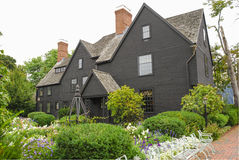 House of Seven Gables. The House of the Seven Gables museum in Salem, Massachusetts that inspired the novel by American author Nathaniel Hawthorne royalty free stock photo