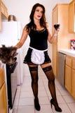 house sexy wife Στοκ εικόνα με δικαίωμα ελεύθερης χρήσης