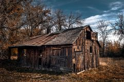 House, Shack, Log Cabin, Tree Stock Images