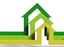 House shape arrows Stock Photography