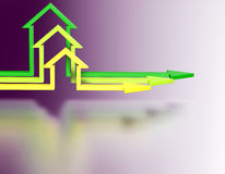 House shape arrows.  Business concept Stock Photos