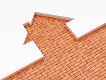 House shape brick icon concept Stock Images