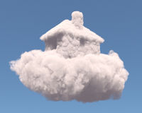 House shape clouds Stock Image