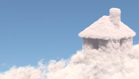 House shape clouds Royalty Free Stock Image