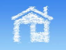 House shape clouds Stock Photography