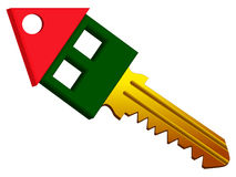 House shape key Royalty Free Stock Image