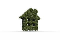 House shape made of leaves Stock Photography